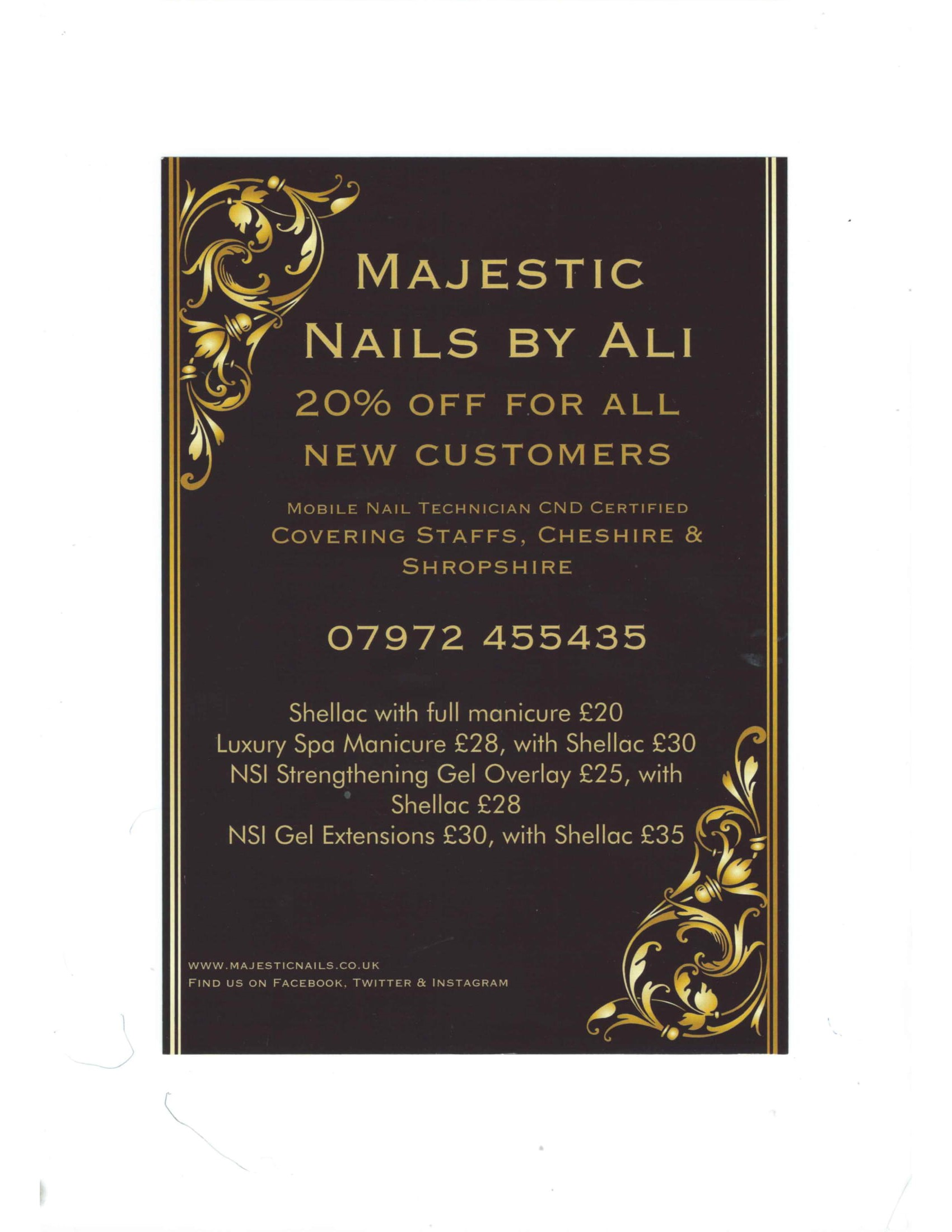 Majestic Nails by Ali | The Madeley Centre